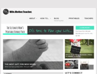 wifemotherteacher.com screenshot