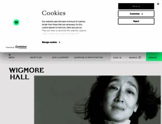 wigmore-hall.org.uk screenshot