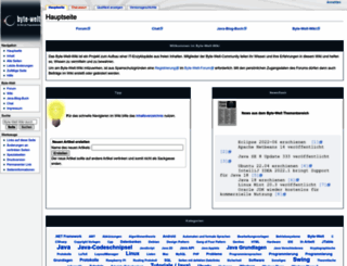 wiki.byte-welt.net screenshot