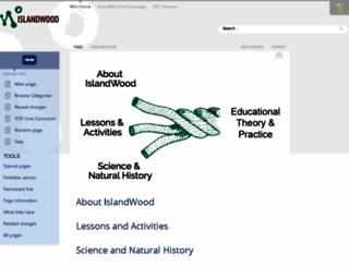 wiki.islandwood.org screenshot