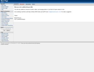 wiki.lastwordonsports.com screenshot