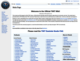 wiki.twit.tv screenshot