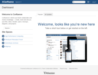 wiki.wesleyan.edu screenshot