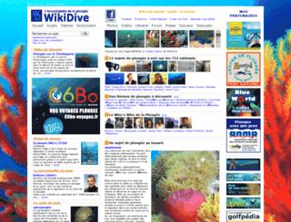 wikidive.com screenshot