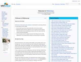 wikituneup.com screenshot