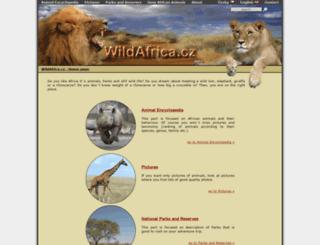 wildafrica.cz screenshot