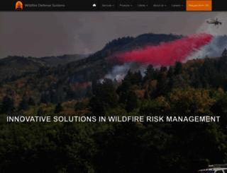 wildfire-defense.com screenshot