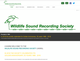 wildlife-sound.org screenshot