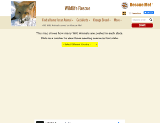 wildlife.rescueme.org screenshot