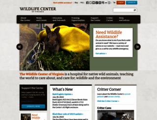 wildlifecenter.org screenshot