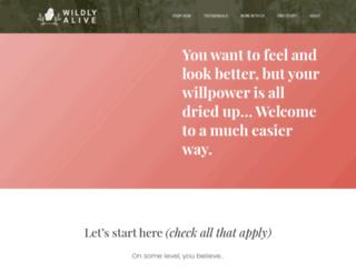 wildlyaliveweightloss.com screenshot