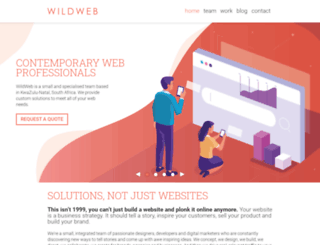 wildweb.co.za screenshot
