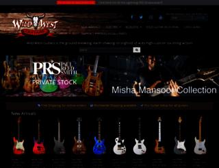 wildwestguitars.com screenshot