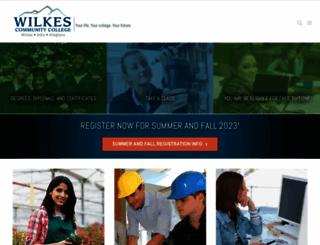 wilkescc.edu screenshot
