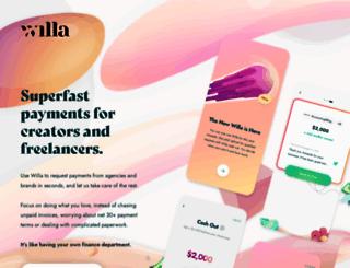 willa.com screenshot