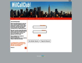 willcallclub.isecuresites.com screenshot