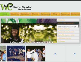williamchinebu.org screenshot