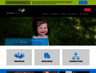 williams-syndrome.org screenshot