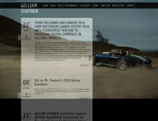 williamshatner.com screenshot