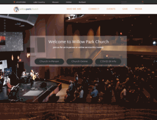 willowparkchurch.com screenshot