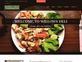 willowsdeli.com screenshot