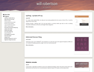 willrobertson.id.au screenshot