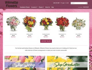 wilmetteflorist.com screenshot