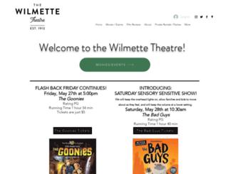 wilmettetheatre.com screenshot