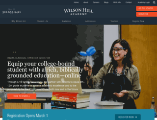 wilsonhillacademy.com screenshot