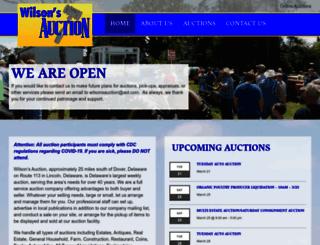 wilsonsauction.com screenshot