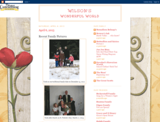 wilsonswonderfulworld.blogspot.com screenshot