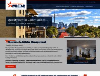 wilstarmanagement.ca screenshot