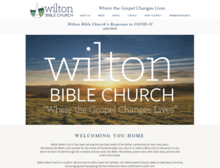 wiltonbiblechurch.com screenshot