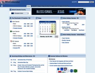 wincalendar.com screenshot