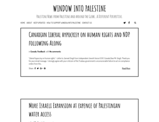 windowintopalestine.blogspot.com screenshot