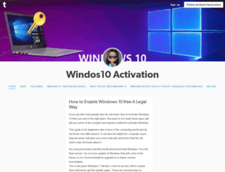 windows10activation.tumblr.com screenshot