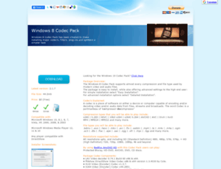windows8codecs.com screenshot