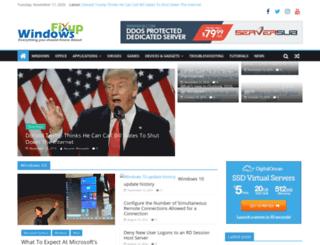 windowsfixup.com screenshot
