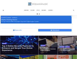 windowsinstructed.com screenshot