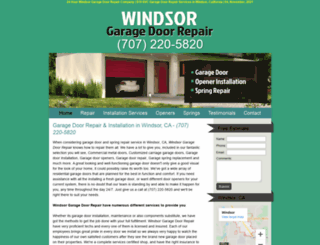 windsorgaragedoorrepair.biz screenshot
