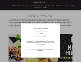windyssukiyaki.com screenshot
