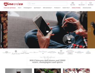 wineandco.co.uk screenshot