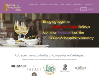 wineandhospitalityjobs.com screenshot