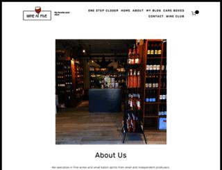 wineatfive.com screenshot