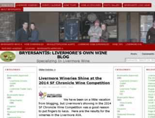 wineblog.bryersantis.com screenshot