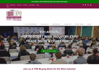 wineindustryexpo.com screenshot