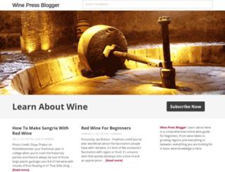 winepressblogger.com screenshot