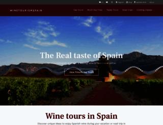 winetourismspain.com screenshot