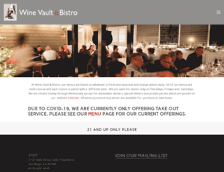 winevaultbistro.com screenshot