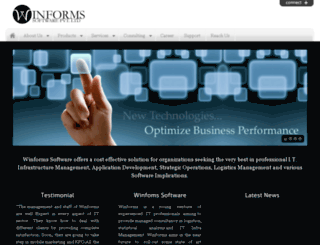winformsoftware.com screenshot